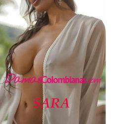 Sara linda mujer en la ciudad de Medellin